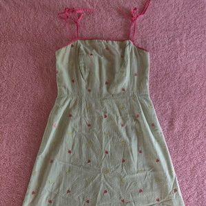 Lilly Pulitzer seersucker strawberry lime dress 4